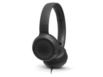 JBL Tune 500 Wired On-Ear Headphones In Black - JBLT500BLKAM