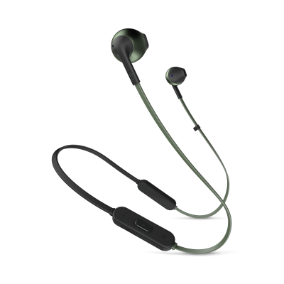 JBL TUNE 205BT Wireless Earbud Headphones In Green - JBLT205BTGRNAM
