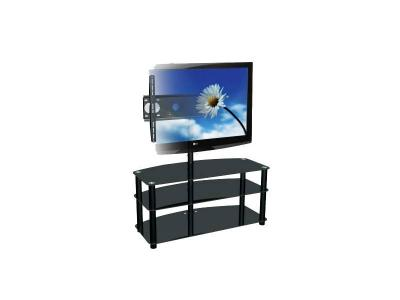 Sonora Swivel Pedestal Stand with Metal and Glass - 175PE343