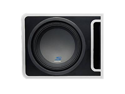 Alpine S-Series  Pre-Loaded 10-inch Subwoofer Enclosure  - S-SB10V