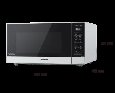 """22"""" Panasonic Genius 1.6 Cu. Ft. Microwave in White  - NNST75LW"""