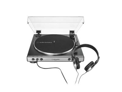 Audio Technica Fully Automatic Belt-Drive Turntable with Headphones - AT-LP60XHP-GM