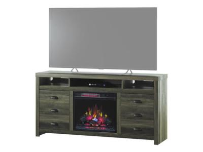 Bell'O TV Stand With Classic Flame Electric Fireplace - Wilder