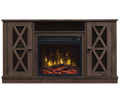 Bell'O Tv Stand with Fireplace Insert - Lukas
