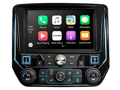"9"" Alpine Restyle Mech-Less In-Dash System With Apple CarPlay & Android Auto for Silverado & Sierra - I209-GM"