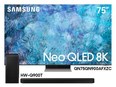 "Samsung 75"" QN75QN900AFXZC Neo QLED 8K Smart TV And  7.1.2 Channel Soundbar HW-Q900T/ZC"