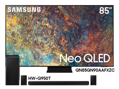"Samsung 85"" QN85QN90AAFXZC Neo QLED 4K Smart TV And  9.1.4 Channel Soundbar HW-Q950T/ZC"