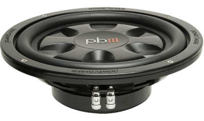PowerBass Thin Mount 10 Inch  Single 4-Ohm Subwoofer - S10T