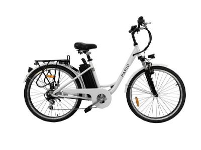 Daymak Electric Bicycle with 36V 7.8AH Lithium Ion in White -	Paris 36V (W)