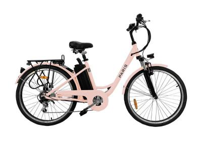 Daymak Electric Bicycle with 36V 7.8AH Lithium Ion in Pink - Paris 36V (P)