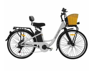 Daymak 350W EBike with 48V Lithium Ion 10AH Battery in White - Milan (W)