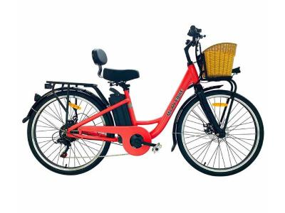Daymak 350W EBike with 48V Lithium Ion 10AH Battery in Red - Milan (R)