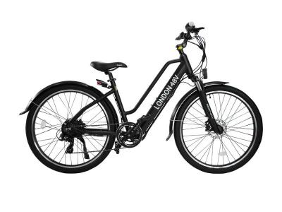 Daymak 48V Electric Bicycle with LED Turn Signals in Black - London 48V (B)