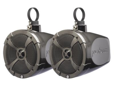 PowerBass 6.5 Inch Short-Range Speaker Pods With Swivel Thin Mount Clamp System - XLPOD6SR