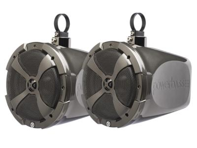 PowerBass 2-Way 8 Inch Short-Range Speaker Pods With Swivel Thin Mount Clamp System - XLPOD8SR