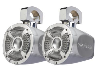 PowerBass 2-Way 6.5 Inch Long-Range Marine Grade Speaker Pods With RGB Illumination - XLPOD6LR