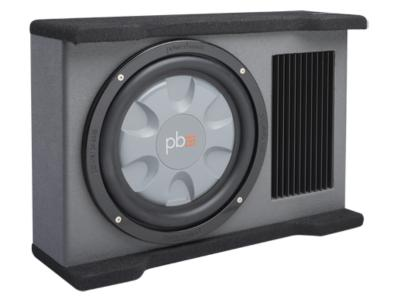 PowerBass 10 Inch Amplified Downfiring Subwoofer Enclosure - PSADF110T