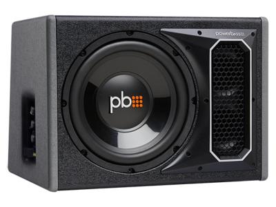 PowerBass Single 12 Inch RMS Amplified Bass Reflex Subwoofer Enclosure - PSAWB121
