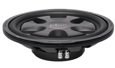 PowerBass Thin Mount 12 Inch Dual 4-Ohm Subwoofer - S12TD