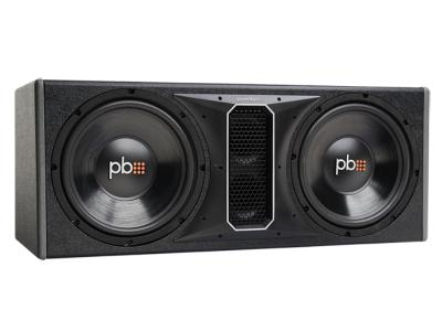 PowerBass 12 Inch Dual Vented Loaded Subwoofer Enclosure - PSWB122