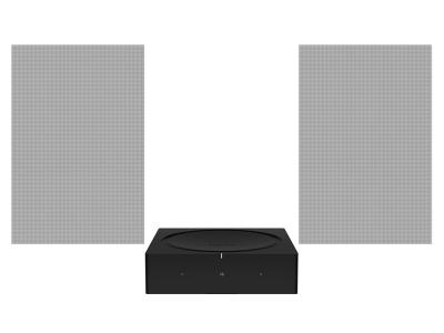 Sonos Architectural sound with Amp and Sonos - In-Wall Set
