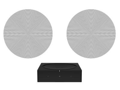 Sonos Architectural sound with Amp and Sonos - In-Ceiling Set