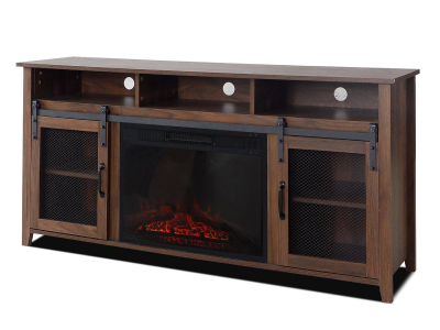 Home Touch Tv Stand with 23 inch Fireplace Insert - Aspen
