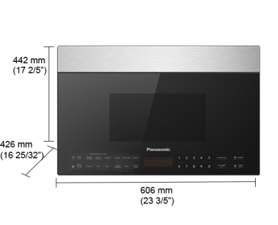 "24"" Panasonic 1.4 Cu. Ft. Genius Over the Range Microwave Oven - NNSG138S"