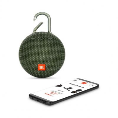 JBL A full-featured waterproof portable Bluetooth speaker with surprisingly powerful sound.-JBLCLIP3GRN