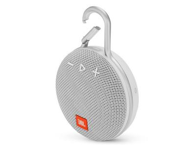 JBL A full-featured waterproof portable Bluetooth speaker with surprisingly powerful sound.-JBLCLIP3WHT