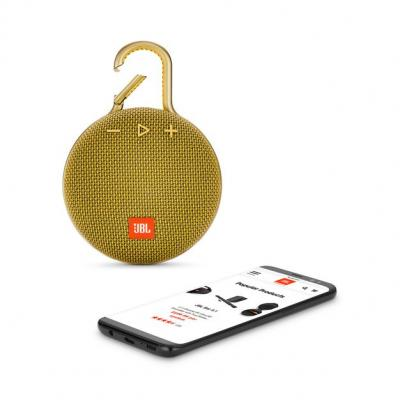 JBL A full-featured waterproof portable Bluetooth speaker with surprisingly powerful sound.-JBLCLIP3YEL