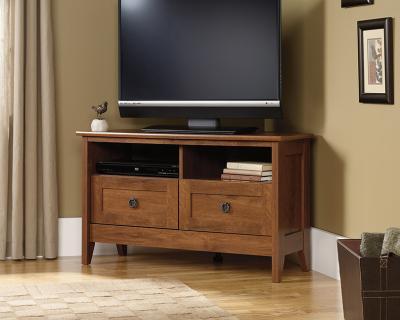 Sauder Oak Finish Corner TV Stand - 410627