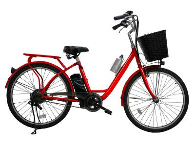 Daymak E-Bike With Removable Lithium Ion Battery In Red - Paris 36V (R)