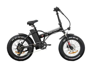 Daymak New Yorker Fat Tire Folding Electric Bicycle in Black - New Yorker Fat Tire (B)