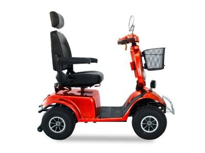 Daymak 800W , 24V 4 Wheeled Mobility Chair Scooter in Red - Boomerbuggy V (R)