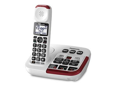 Panasonic Amplified Cordless Telephone with Digital Answering Machine - KXTGM470W
