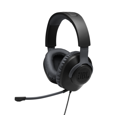 JBL Quantum 100 Wired Over-Ear Gaming Headset with a Detachable Mic - JBLQUANTUM100BLKAM