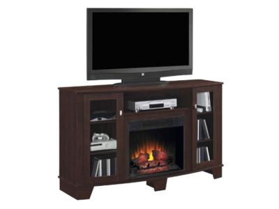 Bell'O Midnight Cherry Finish Media Mantle Adjustable Shelves DEL59MAN