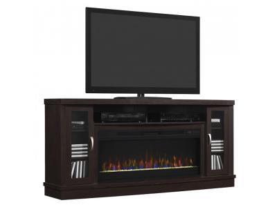 Bell'O Hutchinson TV Stand for TVs up to 80 Oak Expresso Mantle HUTCHINSON