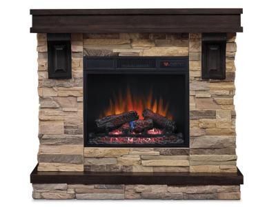 Bello Mantle With Log Firebox -  AUS45MTL