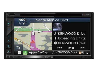 Kenwood eXcelon 6.8'' WVGA/CAPACITIVE TOUCH/DVD/DUAL USB/BT/ANDROID AUTO/CARPLAY/DASHCAM LINK. DNX9946.8