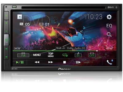 "Pioneer Multimedia DVD Receiver with 6.8"" WVGA Display, and Built-in Bluetooth - AVH-310EX"