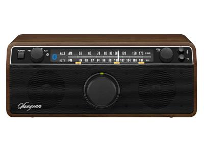 Sangean FM AM Aux-in Bluetooth Wooden Cabinet Receiver - WR-12BT