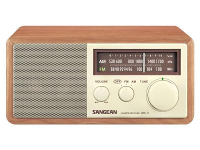 Sangean FM / AM Analog Wooden Cabinet Receiver - WR-11 (Wnt)