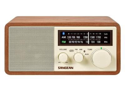 Sangean FM / AM / Aux-in / Bluetooth Wooden Cabinet Receiver - WR-16 (Wnt)
