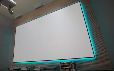 "EluneVision 92"" 16:9 Aurora NanoEdge Reference 4K Fixed-Frame Screen - EV-ZL-92-1.0"