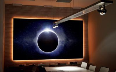 EluneVision 100'' 16:9 Aurora NanoEdge ALR Perforated Grey Screen - EV-ZPL-100-1.25