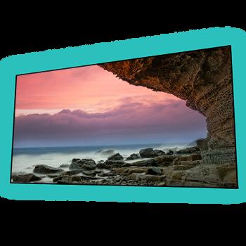 EluneVision 120'' 16:9 Aurora NanoEdge ALR Perforated Grey Screen - EV-ZPL-120-1.25