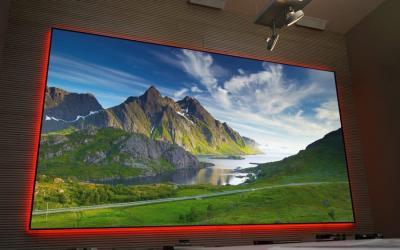 "EluneVision 120"" 2.35:1 Aurora NanoEdge ALR 4K Fixed-Frame Screen - EV-ZL-120-1.3-2.35"