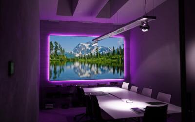 "EluneVision 120"" 16:9 Aurora NanoEdge ALR 4K Fixed-Frame Screen - EV-ZL-120-1.3"
